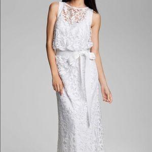 Tadashi Shoji blouson top wedding dress